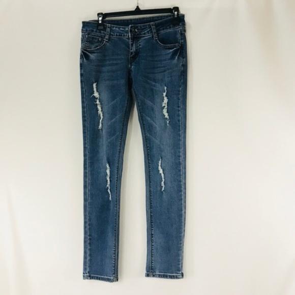 Armani Exchange Denim - A/X Armani Exchange Distressed Slim Skinny Jeans